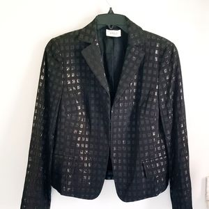 Akris Punto black shimmer blazer jacket size 12
